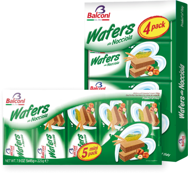 Waffers Nocciola Multi Pack
